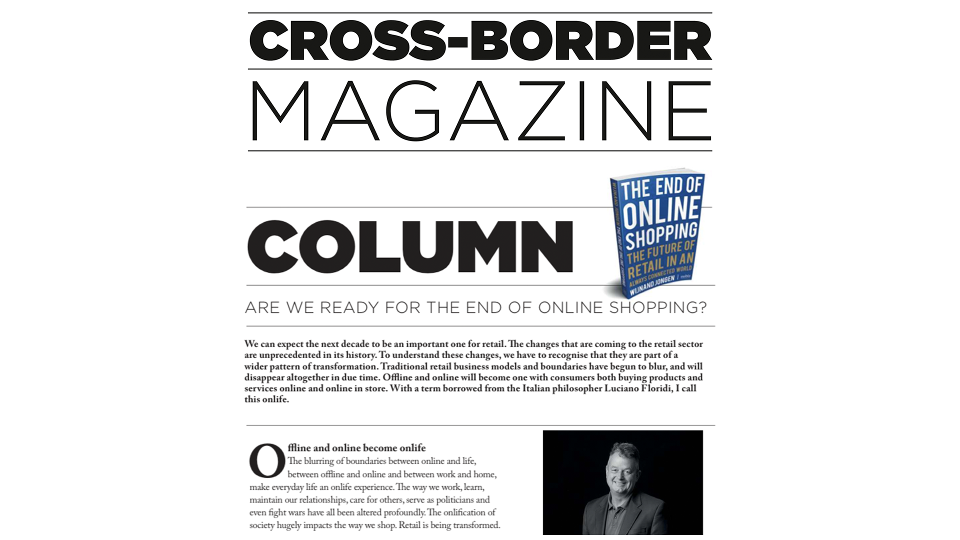 Column 'Are we ready for the end of online shopping' – Cross Border Magazine
