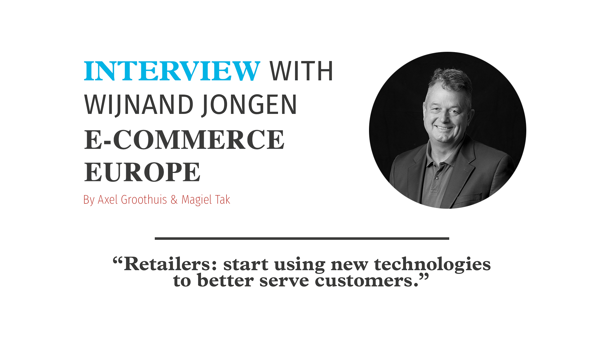 E-commerce Europe interview – Nextcontinent 2018