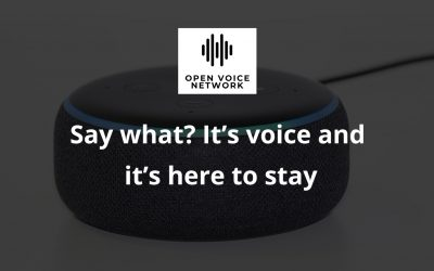 Say what? It's voice and it's here to stay – Open Voice Network