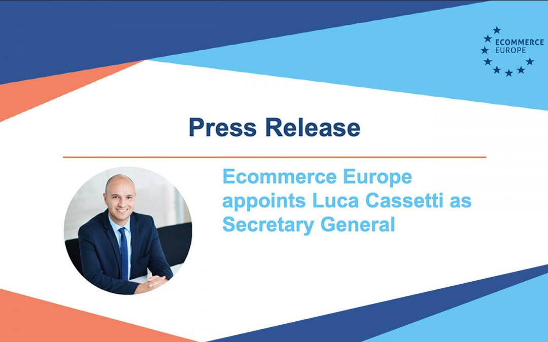 Ecommerce Europe Appoints Luca Cassetti as Secretary General