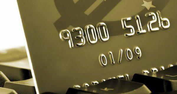 creditcard op keybord