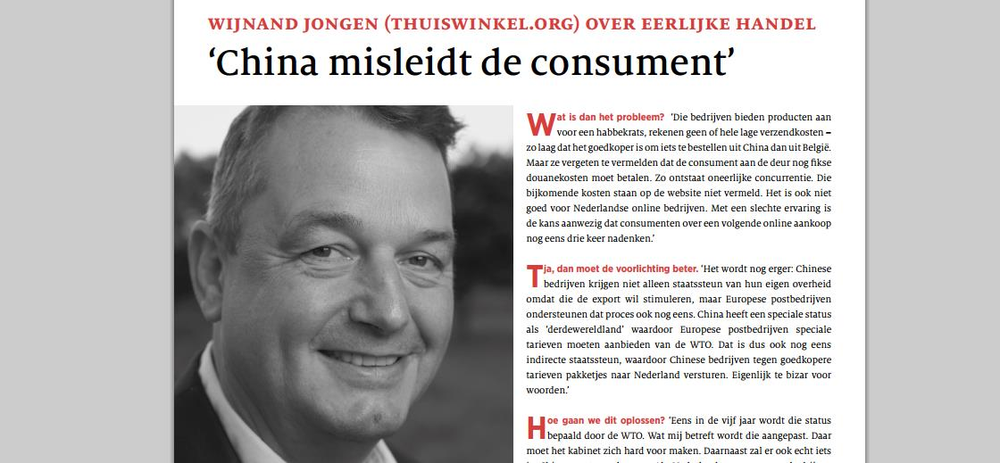 Forum interview - China misleidt de consument