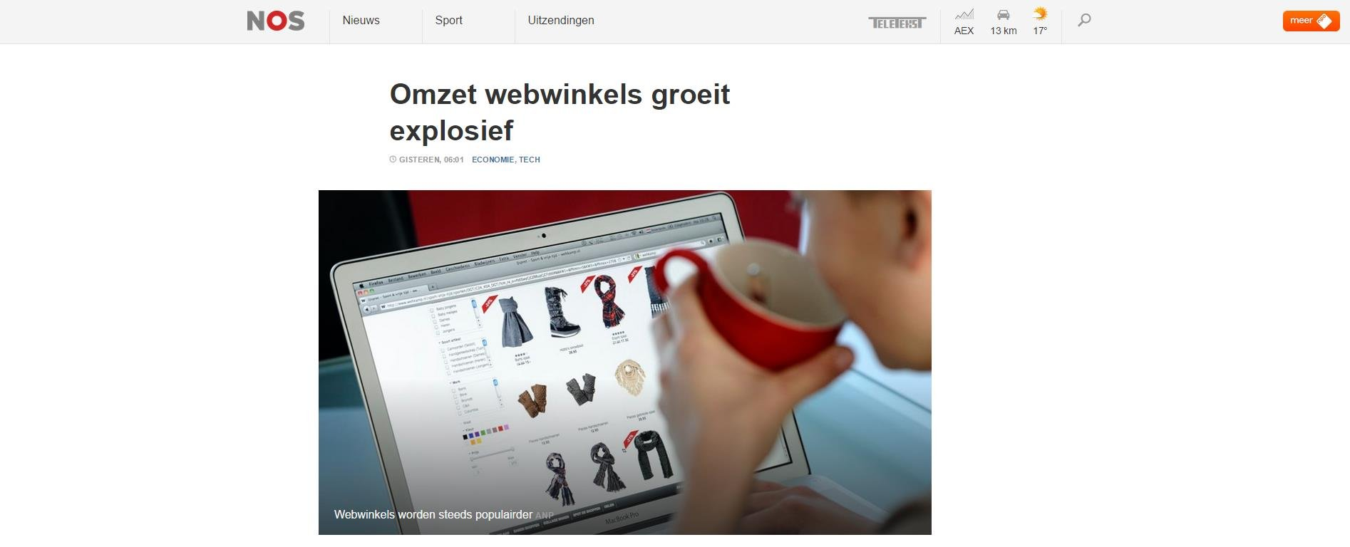 Omzet webwinkels groeit explosief – NOS