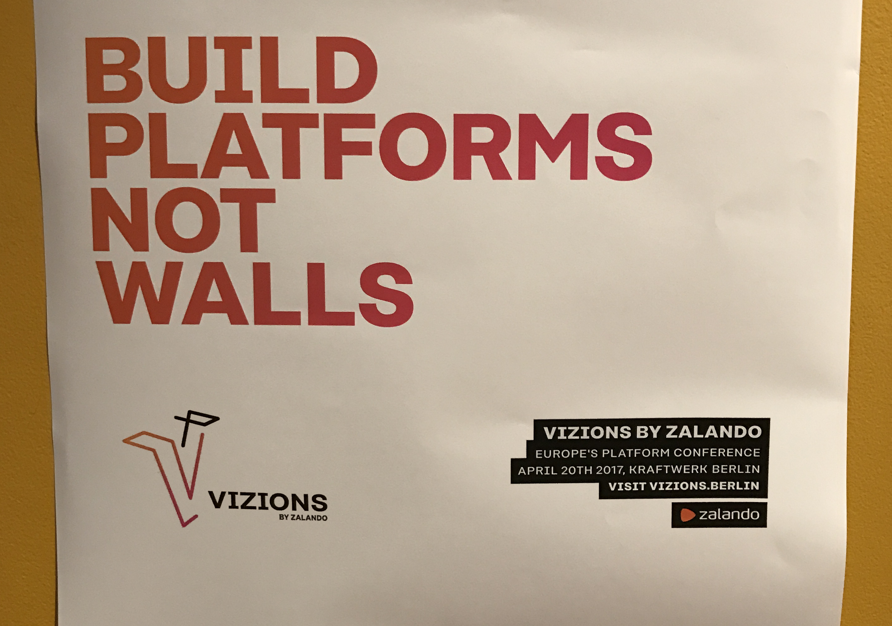 Build platforms, not walls – De nieuwe platformeconomie