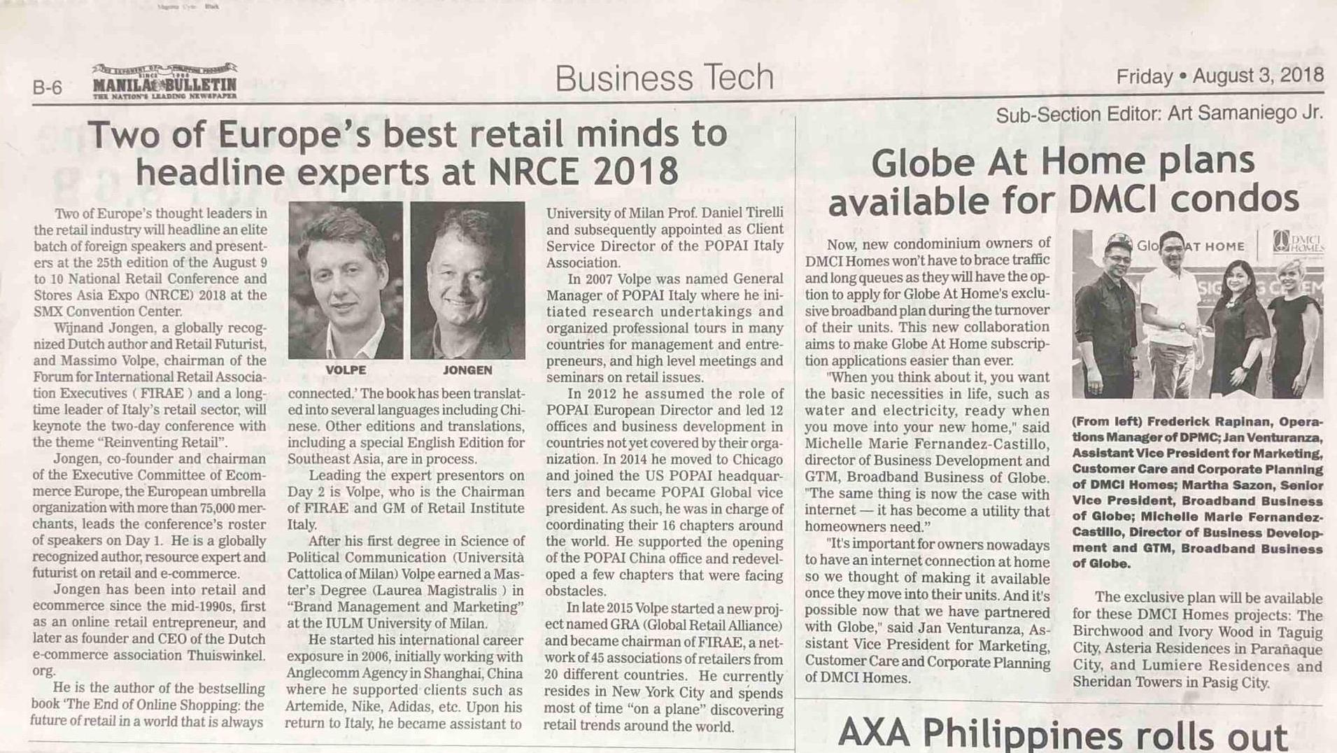 Two of Europe's best retail minds to headline experts at NRCE 2018 – Manila Bulletin