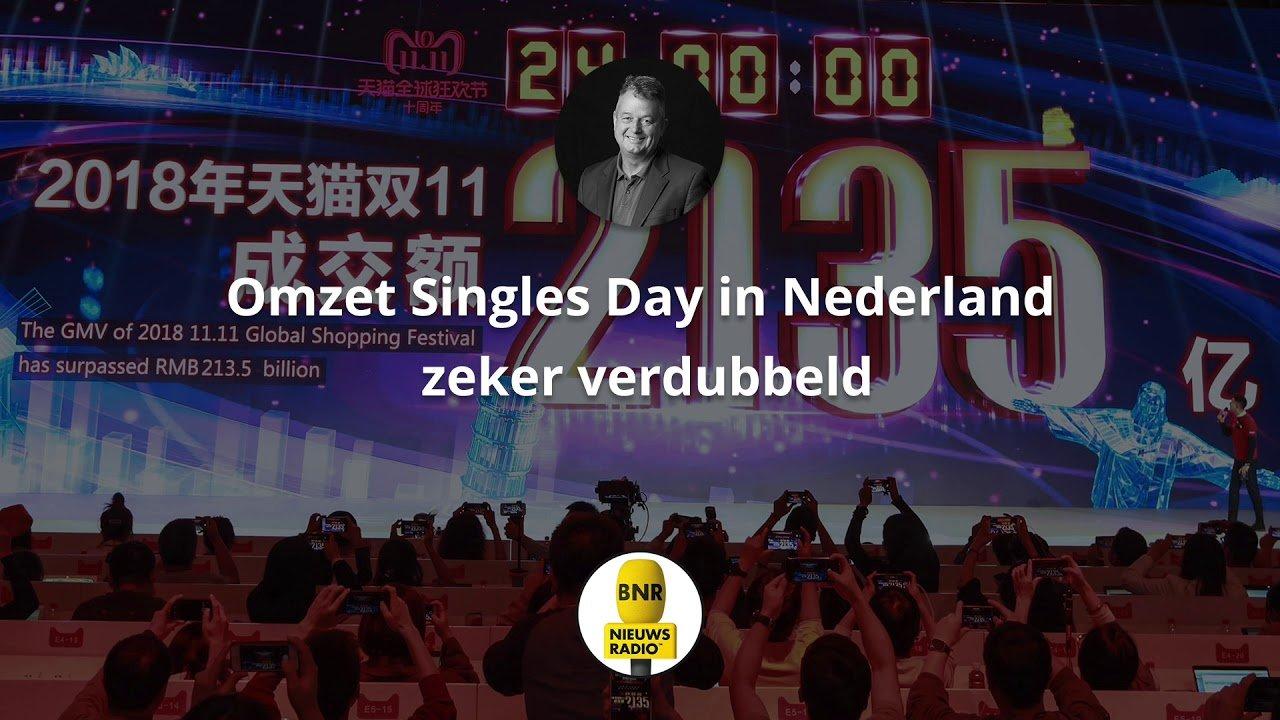 BNR Nieuwsradio Fragment – Omzet Singles Day Nederland zeker verdubbeld