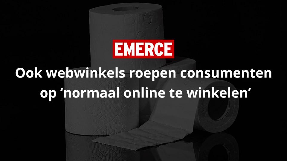 Ook webwinkels roepen consumenten op 'normaal online te winkelen' – Emerce